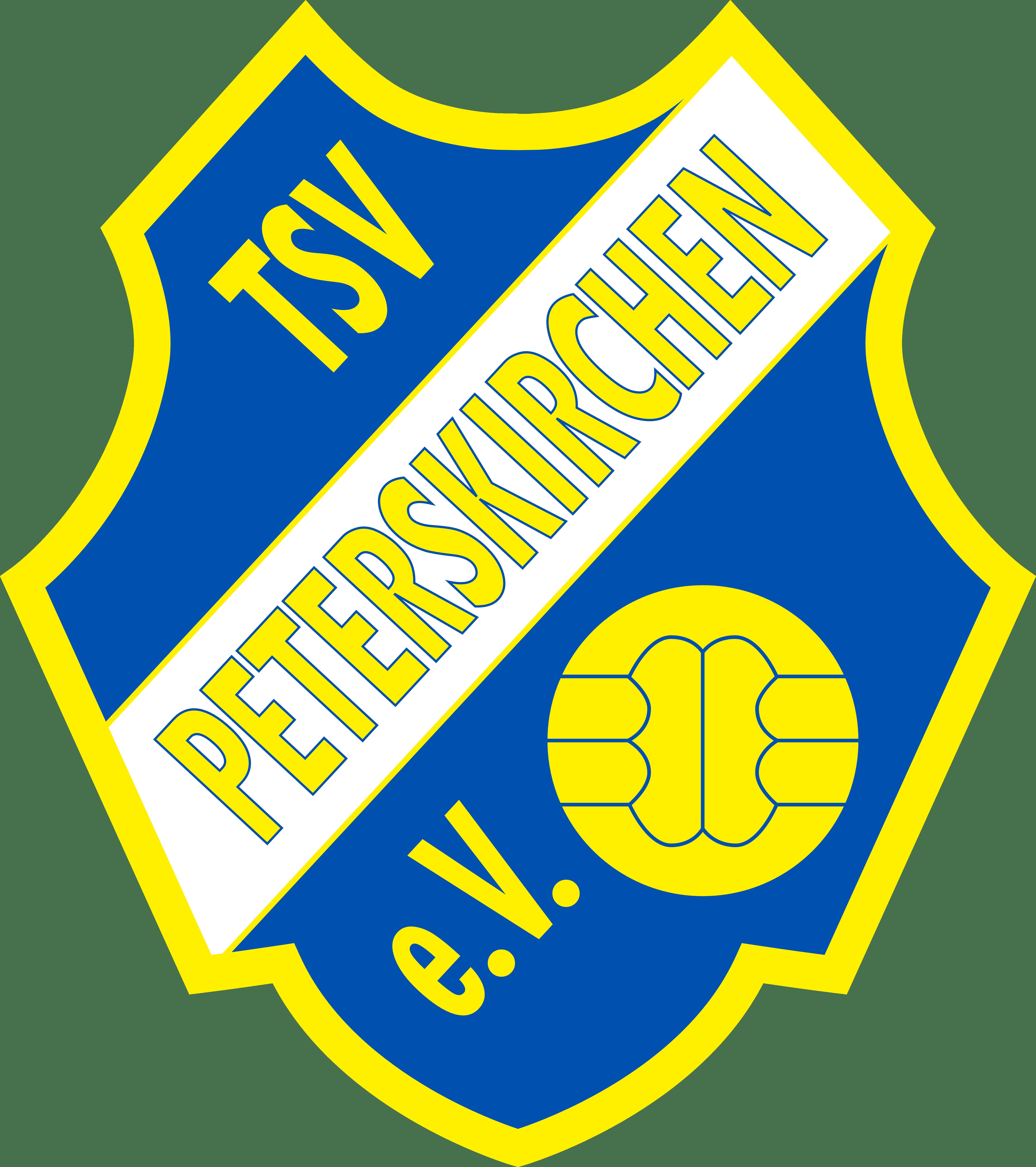Logo TSV Peterskirchen 133x150 in gelb und blau